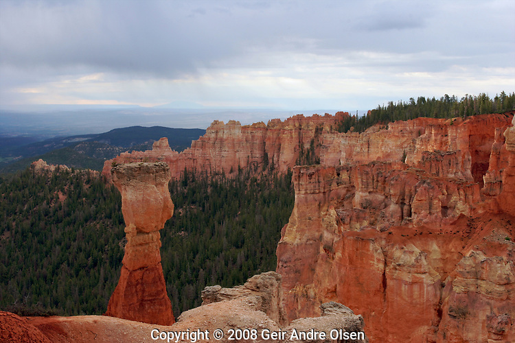 Bryce Canyon in Utah, extraordinary view of spectacular shapes and colors