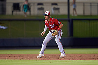 Washington Nationals shortstop Jackson Cluff (72) during a Major League Spring Training game against the Houston Astros on March 19, 2021 at The Ballpark of the Palm Beaches in Palm Beach, Florida.  (Mike Janes/Four Seam Images)