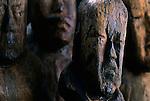 Olmec; El Manati; Wooden Busts; Mexico