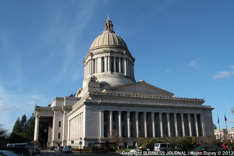 The Washington State Capitol building in Olympia, Washington.