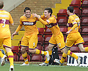 03/10/2009  Copyright  Pic : James Stewart.sct_jspa_04_motherwell_v_falkirk  .LUKAS JUTKIEWICZ CELEBRATES AFTER HE SCORES THE FIRST FOR MOTHERWELL.James Stewart Photography 19 Carronlea Drive, Falkirk. FK2 8DN      Vat Reg No. 607 6932 25.Telephone      : +44 (0)1324 570291 .Mobile              : +44 (0)7721 416997.E-mail  :  jim@jspa.co.uk.If you require further information then contact Jim Stewart on any of the numbers above.........