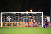 LAKE BUENA VISTA, FL - JULY 31: Kenneth Vermeer #1 of LAFC in penalty kicks during a game between Orlando City SC and Los Angeles FC at ESPN Wide World of Sports on July 31, 2020 in Lake Buena Vista, Florida.