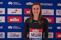 22nd May 2021; Hilton Hotel, Gateshead , England; Diamond League Muller Athletics Grand Prix Gateshead press conference; Laura Muir speaks about tomorrows race but also Olympic prospects as she is keeping options option on events she may run