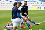 St Johnstone v St Mirren……29.08.20   McDiarmid Park  SPFL<br />Michael O'Halloran warming up with Craig Conway and Ali McCann<br />Picture by Graeme Hart.<br />Copyright Perthshire Picture Agency<br />Tel: 01738 623350  Mobile: 07990 594431