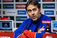 Spainsh coach Julen Lopetegui during the press conference at Nuevo Los Carmenes Stadium in Granada, Spain. November 11, 2016. (ALTERPHOTOS/Rodrigo Jimenez) //NORTEPHOTO.COM
