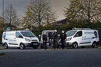 2019 10 24 J&R Electrical owned by Matt Jones, at the Liberty Stadium car park in Swansea, Wales, UK