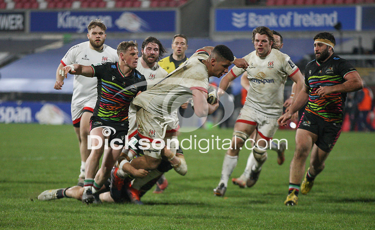 19th March 2021;   Cormac Izuchukwu during the final round of the Guinness PRO14 against Zebre Rugby held at Kingspan Stadium, Ravenhill Park, Belfast, Northern Ireland. Photo by John Dickson/Dicksondigital