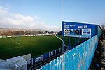The Jamie Vardy Stand at the Look Now Stadium, Stocksbridge. Stocksbridge Park Steels v Pickering Town,  Evo-Stik East Division, 17th November 2018. Stocksbridge Park Steels were born from the works team of the local British Steel plant that dominates the town north of Sheffield.<br /> Having missed out on promotion via the play offs in the previous season, Stocksbridge were hovering above the relegation zone in Northern Premier League Division One East, as they lost 0-2 to Pickering Town. Stocksbridge finished the season in 13th place.