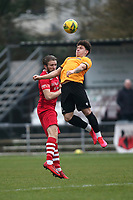 Remi Sutton of Hornchurch and Charlie Seaman of Maidstone during Hornchurch vs Maidstone United, Buildbase FA Trophy Football at Hornchurch Stadium on 6th February 2021
