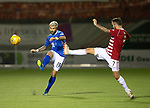 Hamilton Accies v St Johnstone…06.02.19…   New Douglas Park    SPFL<br />Richard Foster is charged down by Dougie Imrie<br />Picture by Graeme Hart. <br />Copyright Perthshire Picture Agency<br />Tel: 01738 623350  Mobile: 07990 594431