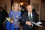 PAOLA SEVERINI CON IL MARITO PIERO MELOGRANI<br /> CELEBRAZIONE DEI 60 ANNI DELLO STATO D'ISRAELE TEATRO DELL'OPERA ROMA 2008