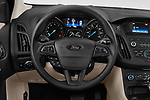 Car pictures of steering wheel view of a 2018 Ford Focus SE 5 Door Hatchback Steering Wheel