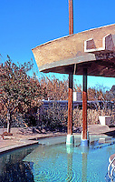 Paolo Soleri: Cosanti Foundation--pool, roofed. Photo '77.