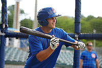 Chattanooga Lookouts second baseman Stephen Wickens (12) during practice before a game against the Jacksonville Suns on April 30, 2015 at AT&T Field in Chattanooga, Tennessee.  Jacksonville defeated Chattanooga 6-4.  (Mike Janes/Four Seam Images)