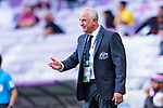 Australia Head Coach Graham Arnold reacts during the AFC Asian Cup UAE 2019 Group B match between Australia (AUS) and Jordan (JOR) at Hazza Bin Zayed Stadium on 06 January 2019 in Al Ain, United Arab Emirates. Photo by Marcio Rodrigo Machado / Power Sport Images