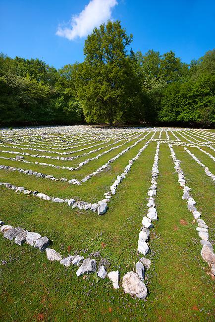 Lada's Labyrinth - Replica of an acient Roman Labyrinth of Pula,  Tramuntana Forest, Cres Island Croatia