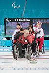 Dennis Thiessen, Sochi 2014 - Wheelchair Curling // Curling en fauteuil roulant.<br /> Canada takes on Russia during round robin play // Le Canada affronte la Russie lors du tournoi à la ronde. 08/03/2014.