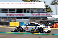 #46 Team Project 1 Porsche 911 RSR - 19 LMGTE Am, Dennis Olsen, Anders Buchardt, Robert Foley, 24 Hours of Le Mans , Test Day, Circuit des 24 Heures, Le Mans, Pays da Loire, France