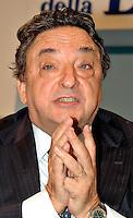 Roma 12 09 2004 Dibattito:Italia,Europa,USA:competizione o collaborazione?Gianni De Michelis Segretario Nazionale Nuovo PSI    photo:Serena Cremaschi Insidefoto