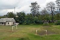 Football goals, part of a sports complex in Batumi...