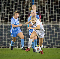 Stanford, CA - December 8, 2019: Abby Greubel at Avaya Stadium. The Stanford Cardinal won their 3rd National Championship, defeating the UNC Tar Heels 5-4 in PKs after the teams drew at 0-0.