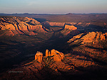 Cathedral Rock, Aerial View at Sunset, Sedona, Arizona