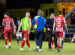 Dundee v St Johnstone…22.09.21  Dens Park.    Premier Sports Cup<br />Saints manager Callum Davidson on the pitch at full time after his side beat Dundee 2-0<br />Picture by Graeme Hart.<br />Copyright Perthshire Picture Agency<br />Tel: 01738 623350  Mobile: 07990 594431