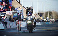 strong solo win by Jasper Stuyven (BEL/Trek Factory-Segafredo)<br /> <br /> Kuurne-Brussel-Kuurne 2016