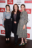 """Annes Elwy, Jonah Hauer-King and Maya Hawke<br /> arriving for the """"Little Women"""" screening at the Soho Hotel, London<br /> <br /> <br /> ©Ash Knotek  D3360  11/12/2017"""