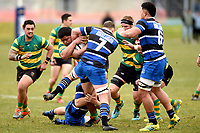 Sitiveni Tupou in action during the Otago premier club rugby union match between Kaikorai and Green Island at Bishopscourt Park in Dunedin, New Zealand on Saturday, 4 July 2020. Photo: Joe Allison / lintottphoto.co.nz