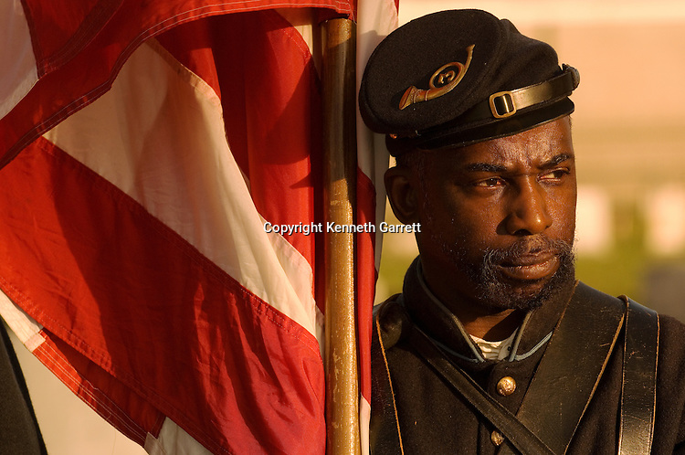 Union Soldier Reenactor on Remembrance Day, Gettysburg, PA