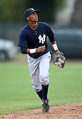 March 25, 2010:  Shortstop Fernando Perez of the New York Yankees organization during a Spring Training game at the Carpenter Complex in Clearwater, FL.  Photo By Mike Janes/Four Seam Images
