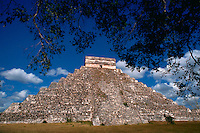 An ancient Mayan ruin. Chichen Itza, Yucatan, Mexico.