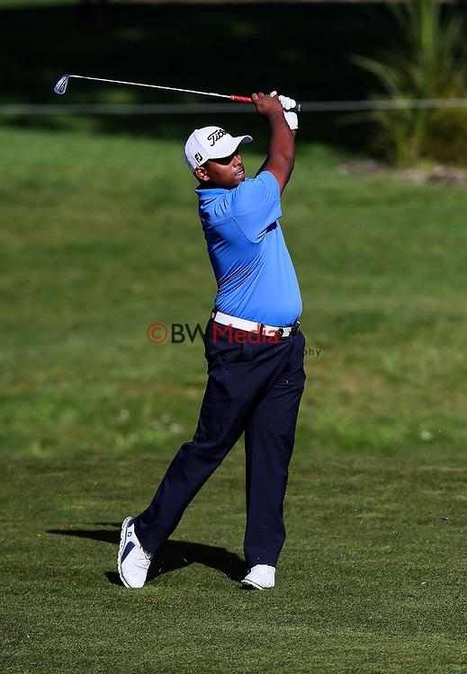 Rayhan Thomas of India during the Asia Pacific Amateur Golf Championship Round Two, Royal Wellington Golf Course, Wellington, New Zealand, 27 October2017.  Photo: Simon Watts/www.bwmedia.co.nz