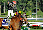 10 August 29: Persistently (no. 3), ridden by Alan Garcia and trained by Claude McGaughey III, upsets 2009 Horse of the Year Rachel Alexandra and Calvin Borel to win the 63rd running of the grade 1 Personal Ensign Stakes for fillies and mares three years old and upward at Saratoga Race Track in Saratoga Springs, New York.