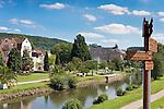 Germany, Bavaria, Lower Franconia, Bad Kissingen: Rose Garden, at river Saale | Deutschland, Bayern, Unterfranken, Bad Kissingen: Rosengarten, an der Fraenkischen Saale