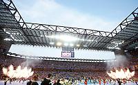 Calcio, finale di Champions League: Real Madrid vs Atletico Madrid. Stadio San Siro, Milano, 28 maggio 2016.<br /> A view of San Siro stadium, prior to the start of  the Champions League final match between Real Madrid and Atletico Madrid, in Milan, 28 May 2016.<br /> UPDATE IMAGES PRESS/Isabella Bonotto
