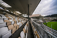 A general view of the Basin Reserve from the newly-renovated NZ Cricket Museum Stand in the build-up to the International Test Cricket match between the New Zealand Black Caps and West Indies at the Basin Reserve in Wellington, New Zealand on Thursday, 10 December 2020. Photo: Dave Lintott / lintottphoto.co.nz