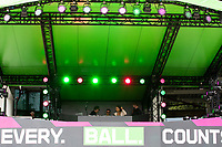 The DJ's stage during London Spirit Women vs Trent Rockets Women, The Hundred Cricket at Lord's Cricket Ground on 29th July 2021