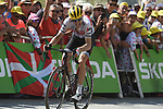 """Bauke Mollema (NED) Trek-Segafredo climbs towards the finish line in 18th place 3'29"""" down atop the Col du Tourmalet at the end of Stage 14 of the 2019 Tour de France running 117.5km from Tarbes to Tourmalet Bareges, France. 20th July 2019.<br /> Picture: Colin Flockton 