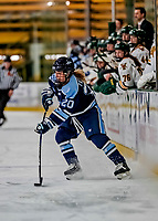 30 November 2018: University of Maine Black Bear Forward Celine Tedenby, a Freshman from Örnsköldsvik, Sweden, in first period action against the University of Vermont Catamounts at Gutterson Fieldhouse in Burlington, Vermont. The Lady Bears defeated the Lady Cats 2-1 in the first game of their 2-game Hockey East series. Mandatory Credit: Ed Wolfstein Photo *** RAW (NEF) Image File Available ***
