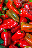 Chichicastenango, Guatemala.  Peppers for Sale in the Market.