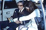 JACQUELINE LEE CON IL MARITO ARISTOTELE ONASSIS<br /> ROMA 1972