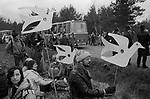 Greenham Common Peace Camp 1985.