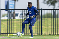FRISCO, TX - JULY 20: Sean Johnson Field Activation during a training session at Toyota Soccer Center FC Dallas on July 20, 2021 in Frisco, Texas.
