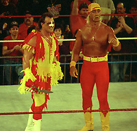 Hulk Hogan Brutus The Barbar Beefcake 1989<br /> Photo By John Barrett/PHOTOlink
