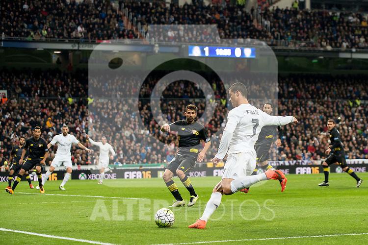 Real Madrid's Cristiano Ronaldo during La Liga match. March 20,2016. (ALTERPHOTOS/Borja B.Hojas)