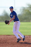 Miles Iverson (43), from Lake Forest Park, Washington, while playing for the Dodgers during the Under Armour Baseball Factory Recruiting Classic at Red Mountain Baseball Complex on December 29, 2017 in Mesa, Arizona. (Zachary Lucy/Four Seam Images)