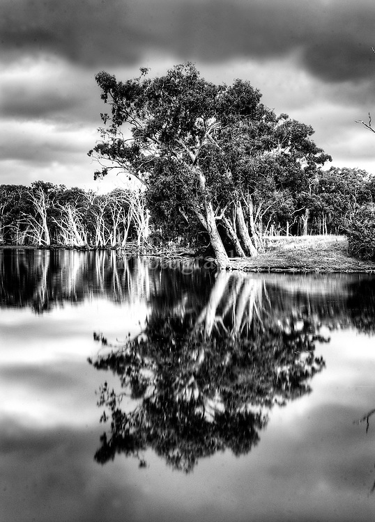 Duck lagoon on kangaroo island on a over cast day late afternoon