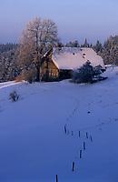 Europe/Allemagne/Forêt Noire/Env de Hinterzarten : Vieille ferme en hiver